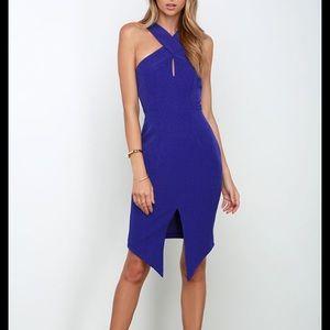 NWT Keepsake Tainted Romance Cobalt Dress